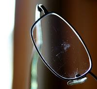 eyeglass lenses wkel  scratched-glasses